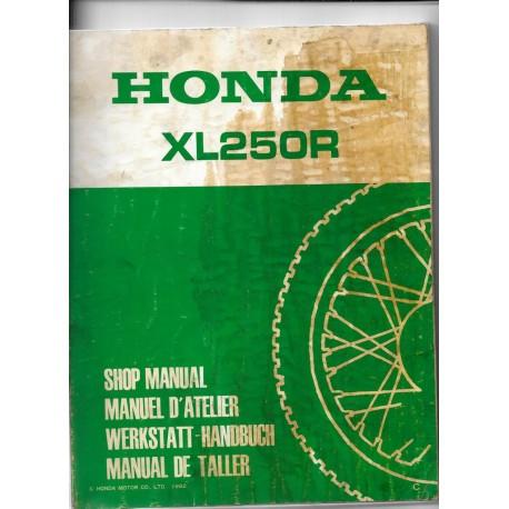 HONDA XL 250 R Gros supplément de 1982