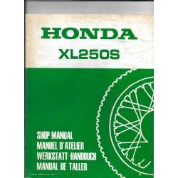 HONDA XL 250 S Gros supplément de mars 1981