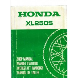 HONDA XL 250 S Manuel de base