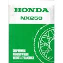 HONDA NX 250 Manuel de base