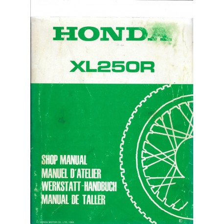 HONDA XL 250 R 1984 Manuel de base
