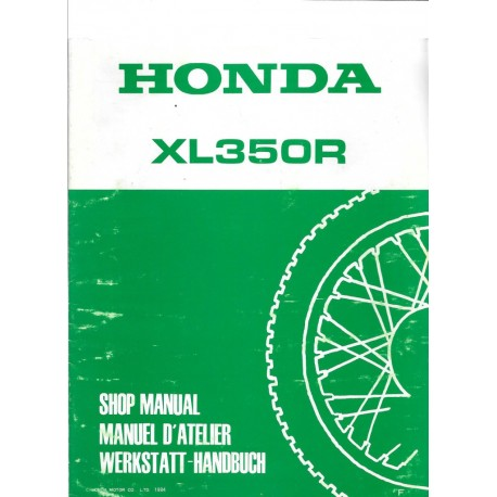 HONDA XL 350 R (Additif de novembre 1984)
