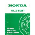 HONDA XL 350 RF (manuel atelier additif 11 / 1984)