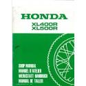 HONDA XL 400 et 500 R (Additif d'avril 1982)