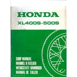HONDA XL 400 S et XL 500 S (Additif de mars 1981)