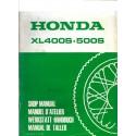 HONDA XL 400 et 500 S (Additif de mars 1981)
