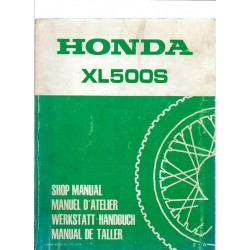 HONDA XL 500 S Manuel de base