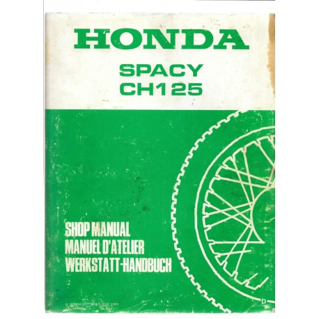 HONDA SPACY CH 125 (Manuel de base)