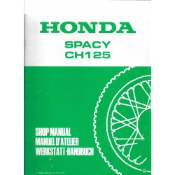 HONDA SPACY CH 125 (additif manuel atelier12 / 1985)