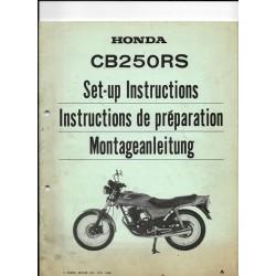 HONDA CB 250 RS (Manuel de préparation)