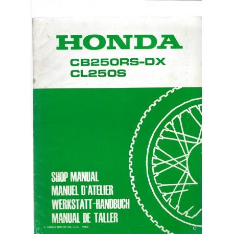 HONDA CB 250 RS-DX / CL 250 S (Supplément avril 1982)