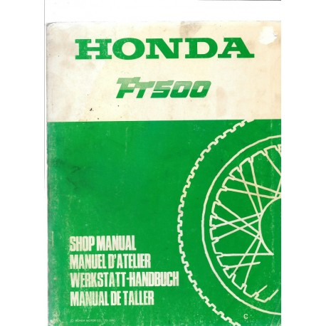 HONDA FT 500 (Manuel de base)
