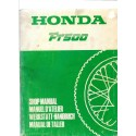 HONDA FT 500 (Manuel atelier mars 1982)