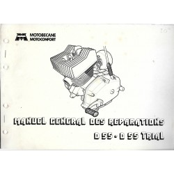 Motobécane manuel atelier D 55 ROUTE / TRIAL