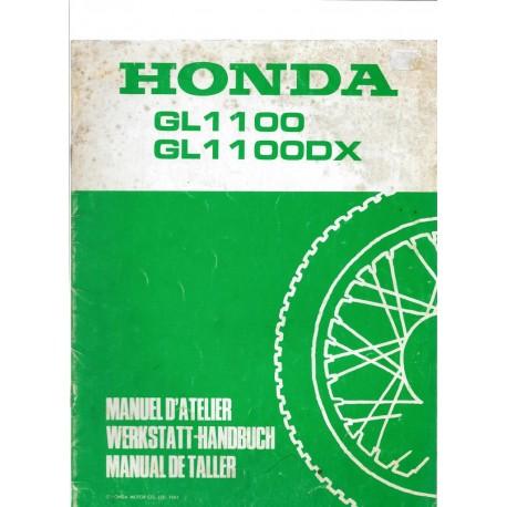 HONDA GL 1100 / DX (Additif février 1981 au GL 1100 1980)