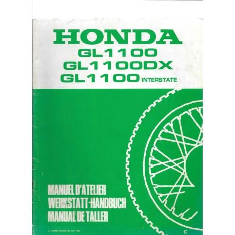 HONDA GL 1100 / DX / INTERSTATE (Additif avril 1982 au GL 1100 1980)
