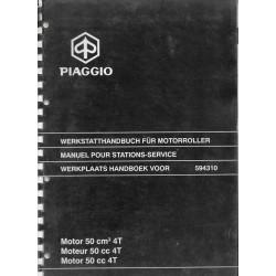 PIAGGIO moteur 50 cc 4 temps (manuel atelier 09 / 2000)