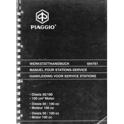 PIAGGIO moteur DIESIS 50 / 100 cc 2 temps (manuel atelier 05 / 2001)