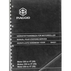 PIAGGIO moteur X9 250 cc 4 temps (manuel atelier 05 / 2001)