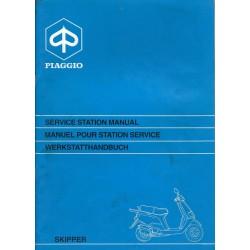 PIAGGIO SKIPPER 125 cc 2 temps (manuel atelier 06 / 1993)