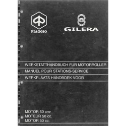PIAGGIO GILERA moteur 50 cc automatique( manuel atelier 02 / 1997)