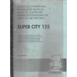 CAGIVA SUPER CITY 125cc ( manuel atelier 05 / 1991)