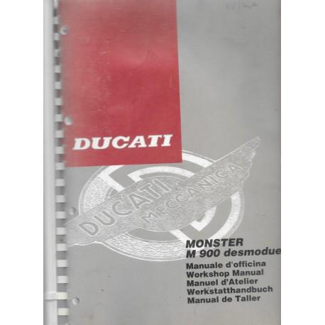 DUCATI MONSTER M 900 / 1993 ( manuel atelier 07 / 1993)