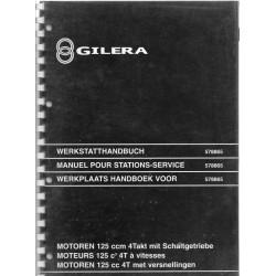 GILERA moteur 125 4 temps à vitesses (M.A. 04 / 1999)