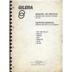 GILERA RK 50 cc ou BULLIT 50 cc (manuel atelier 10 / 1996)