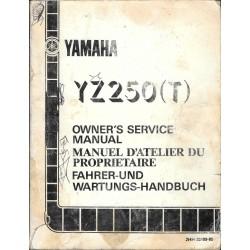 YAMAHA YZ 250 T type 2HH 1987