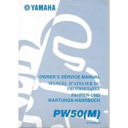 Manuel atelier YAMAHA PW 50 M 2000