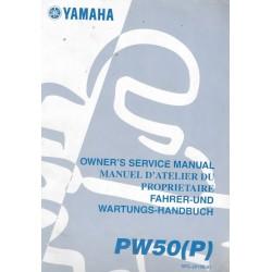 Manuel atelier YAMAHA PW 50 P 2002
