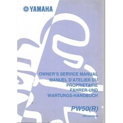 Manuel atelier YAMAHA PW 50 R 2003