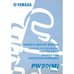 Manuel atelier YAMAHA PW 80 M 2000 Type 3RV