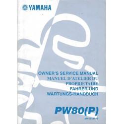 Manuel atelier YAMAHA PW 80 P 2002 Type 3RV