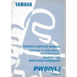 Manuel atelier YAMAHA PW 80 1988 Type 21W
