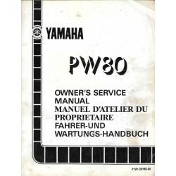 Manuel atelier YAMAHA PW 80cc modèle 1988