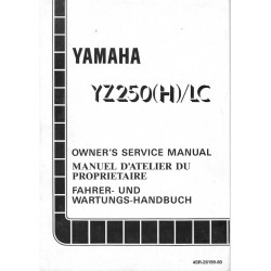 Manuel atelier YAMAHA YZ 250 (H) / LC 1996