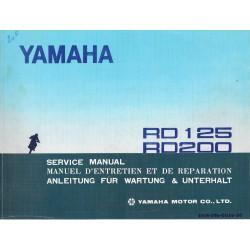 YAMAHA RD 125 / RD 200 (manuel atelier 04 / 1973)