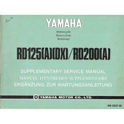 YAMAHA RD 125 (A) (DX) / RD 200 (A) (manuel atelier 04 / 1973)