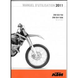 KTM 250 SX-F EU et USA 2011