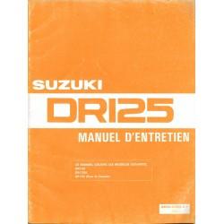 Manuel atelier SUZUKI DR 125 (03 / 1989)