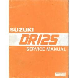 SUZUKI DR 125 (08 / 1985) Manuel atelier en anglais