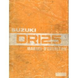 SUZUKI DR 125 (Manuel atelier 06 / 1982)