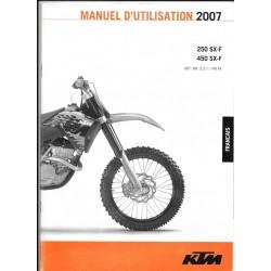 KTM 250 et 450 SX-F 2007