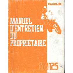SUZUKI RM 125 1991 (Manuel atelier 10 / 1990)