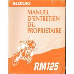 Manuel atelier SUZUKI RM 125 1994 (07 / 1993)