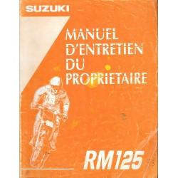 Manuel atelier SUZUKI RM 125 1995