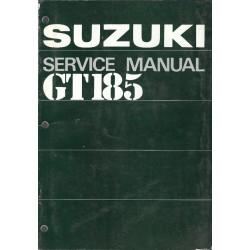 SUZUKI GT 185 (Manuel atelier 05 /1973) en anglais
