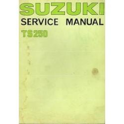 SUZUKI TS 250 de 1977 (Manuel atelier en anglais 09 /1976)